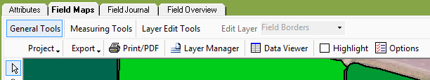 General Field Maps Tab to highlight layer manager