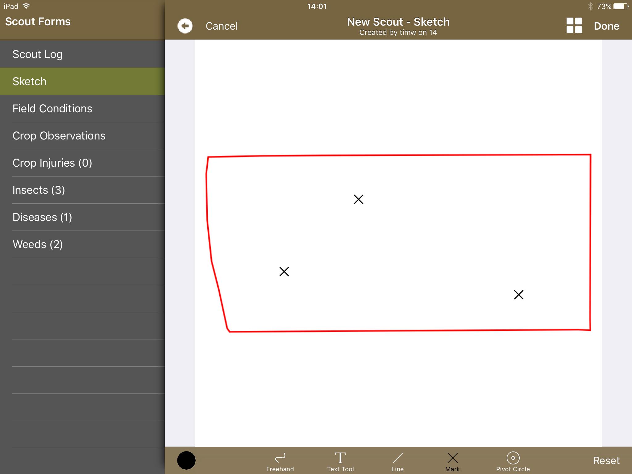 Sketch on Journal App