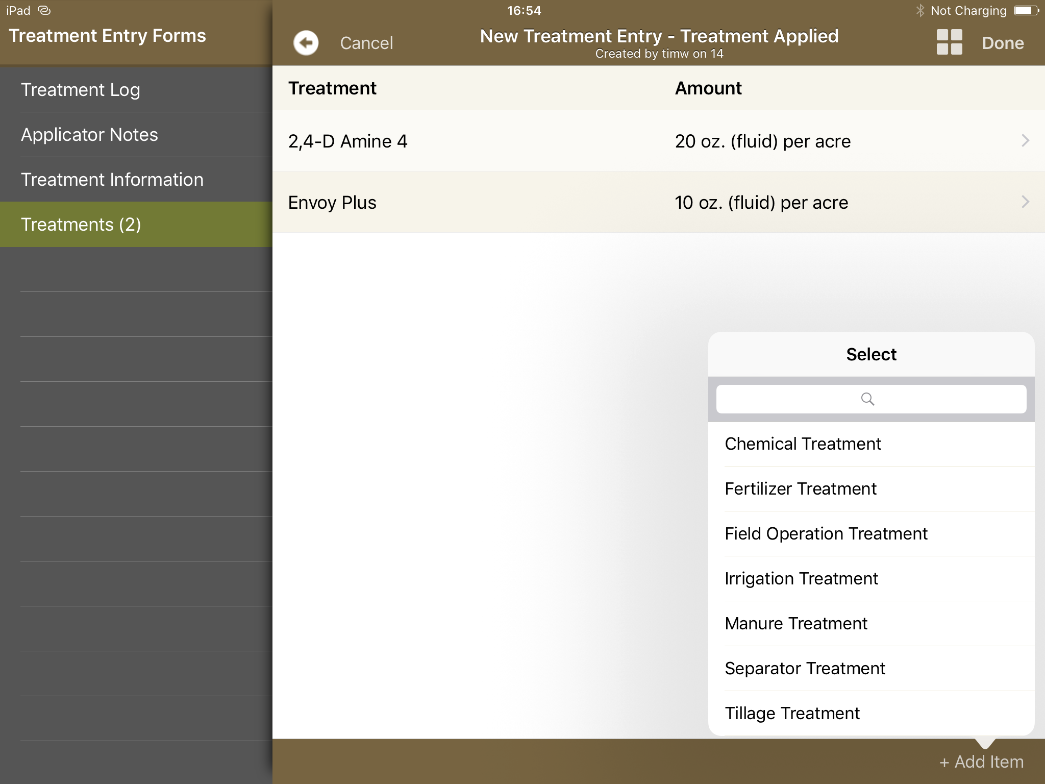 Adding Treatments to Forms