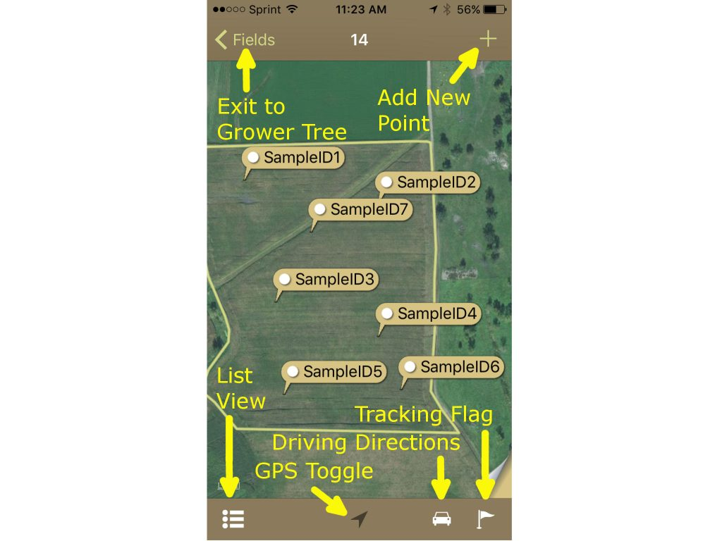 Navigating the Sampling App on the iPhone Map View
