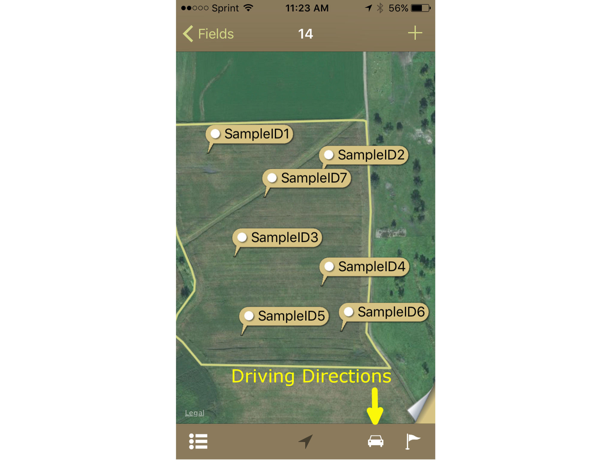 Turn by Turn Directions in iPhone Sampling App