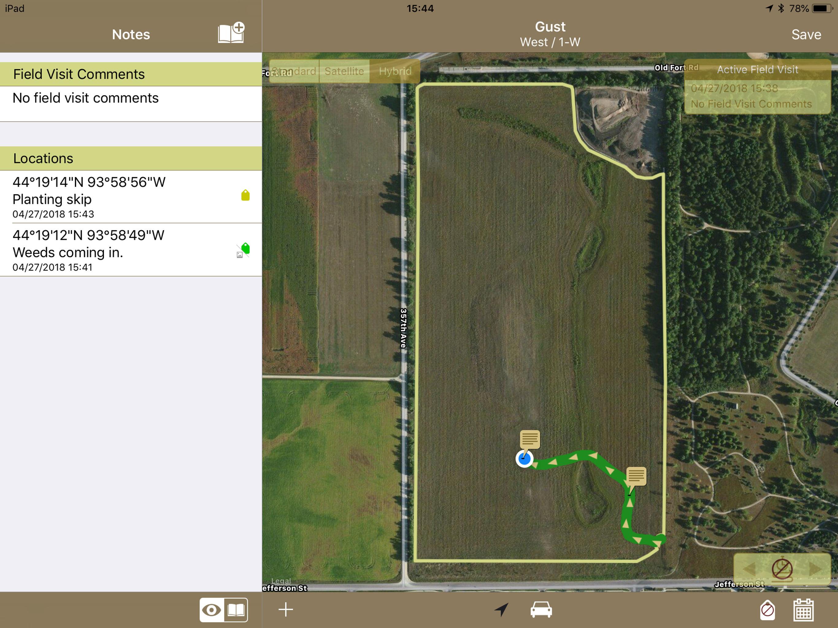 GeoNotes Screenshot