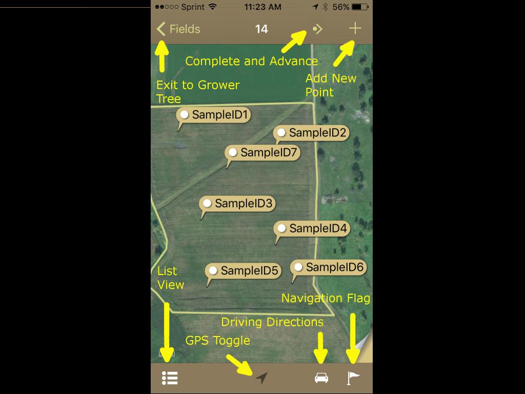 Sampling App iPhone Map View Displaying Tools