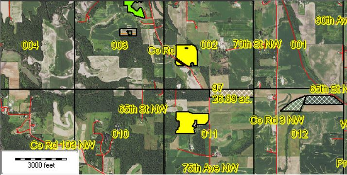Example Field Maps Colored by Crops